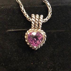 EFFY amethyst heart necklace